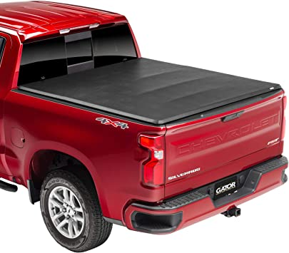 Amazon Com Gator Etx Soft Tri Fold Truck Bed Tonneau Cover 59109 Fits 2014 2018 2019 Ltd Lgcy Chevy Gmc Silverado Sierra 1500 5 8 Bed Automotive