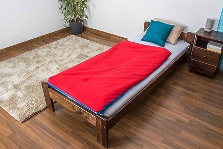 Futon cama madera de pino maciza, color nogal, A8, incluye ...