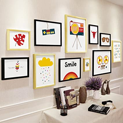 Amazon.com: Picture Frames Photo wall modern simple decorative photo ...