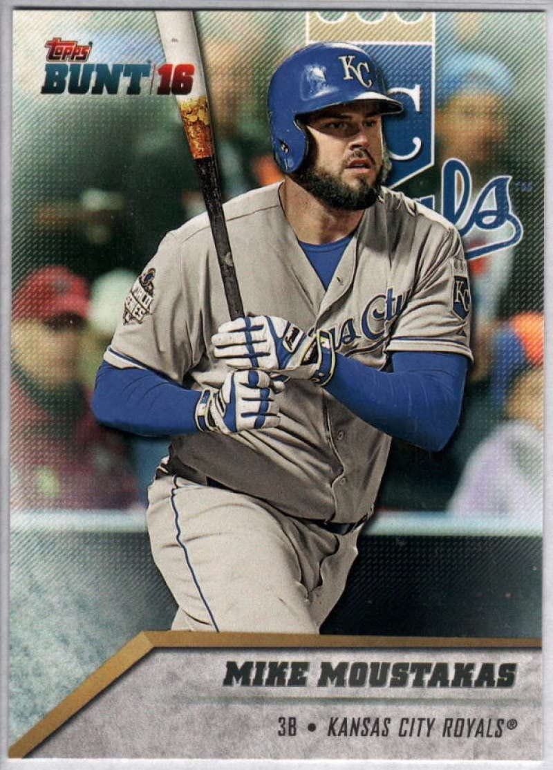 2016 Topps Bunt #97 Mike Moustakas Royals MLB Baseball Card NM-MT