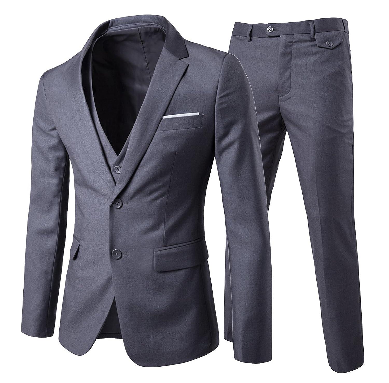 Bueno wreapped cloudstyle nube estilo traje de 3 piezas para hombre 2  botones slim fit color 6f8087f689d