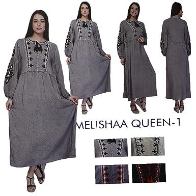 52e2bb58ce Miss Trendy Women Indian Pakistani Designer Embroidery Kurta Kurti Tunic  Top Dress Melishaa (Off White