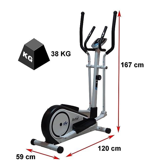 Elíptica Aster FI200 by ION fitness. Blanca. Zancada de 33cm ...
