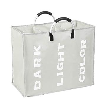 Amazon.com: Esonmus – Bolsa de lavandería plegable de 3 ...