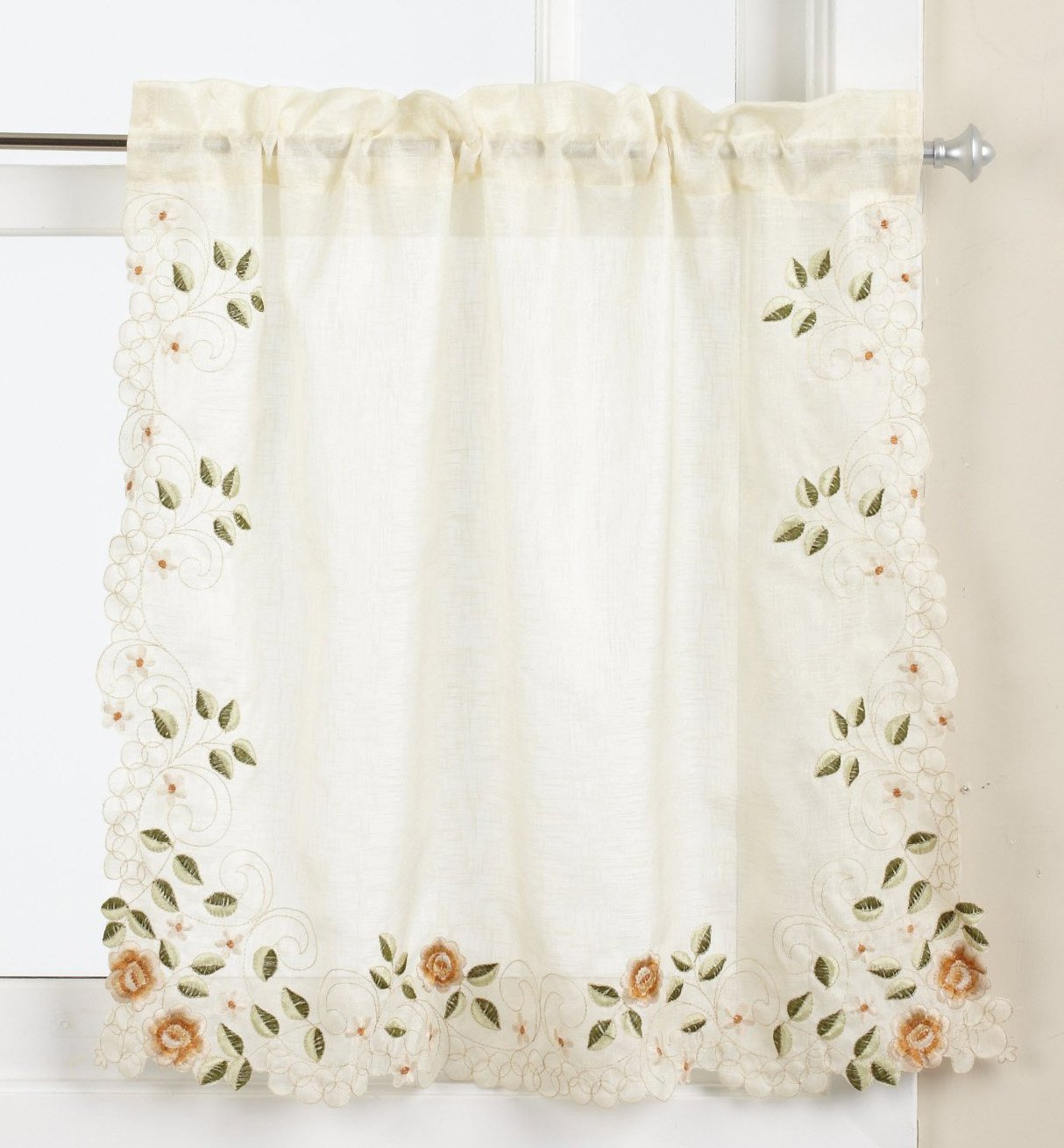Linen Lorraine Home Fashions: LORRAINE HOME FASHIONS Rosemary Tier Curtain Pair, 58 By