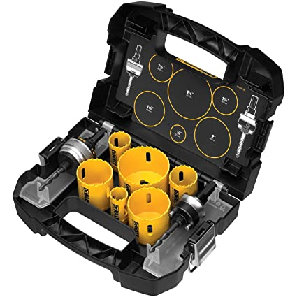 Dewalt D180002 Standard Electricians Bi Metal Hole Saw Kit Amazon Co Uk Diy Tools