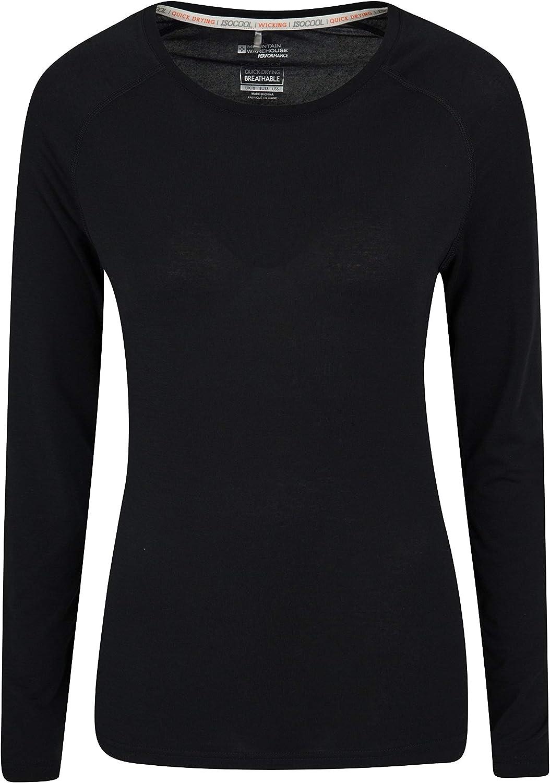 Mountain Warehouse Top IsoCool Dynamic para Mujer - Camiseta cómoda para Mujer, Camiseta Ligera, Secado rápido, Camiseta Transpirable - para Viajar, Correr
