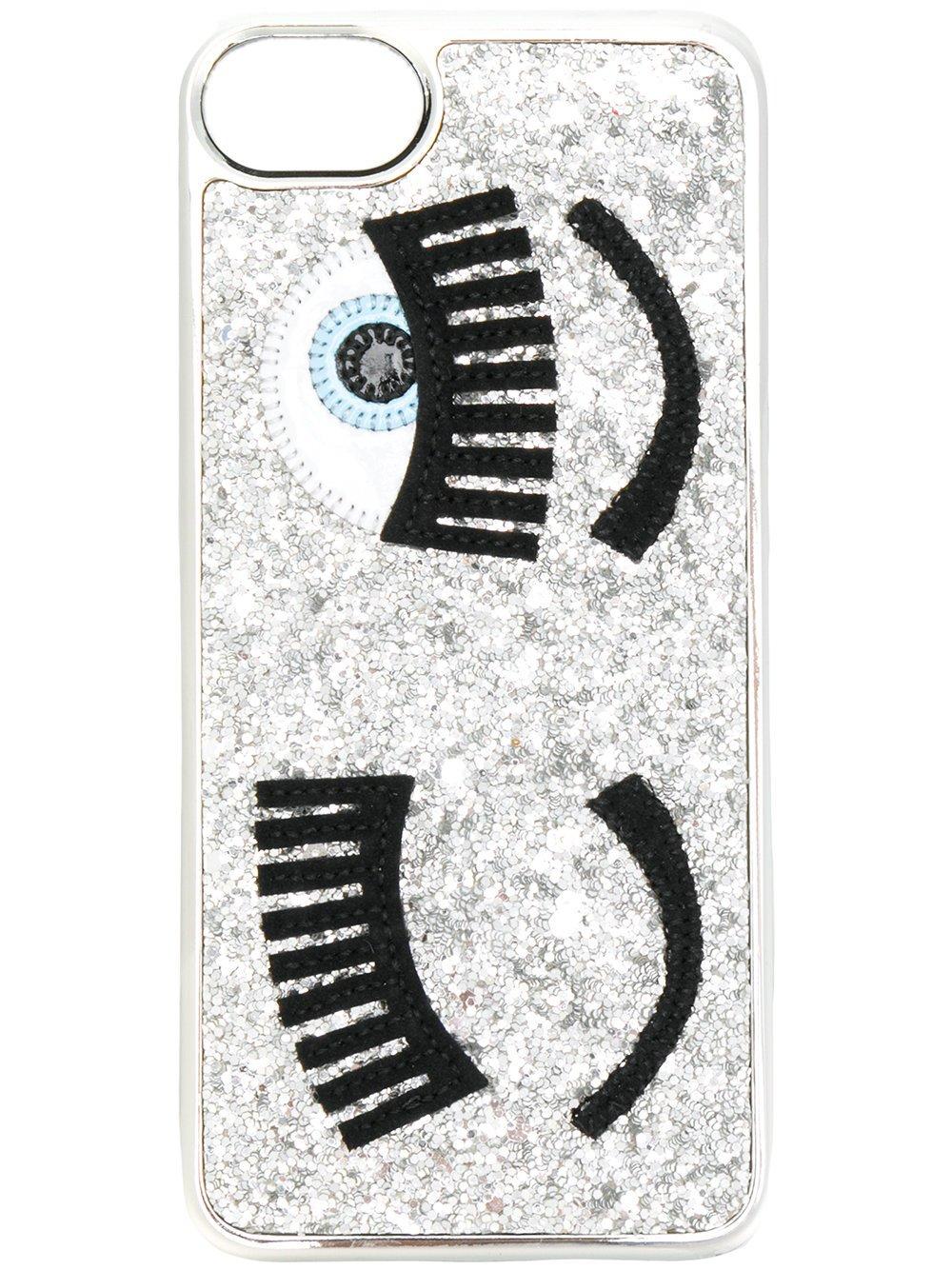 Chiara Ferragni Women's Cfcip67010silver Silver Polyurethane Cover