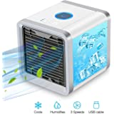 Personal Air Conditioner Cooler Fan, Humidifiers, Portable Mini Size Table Water Fan for Office and Home,USB Fan for Desk,Desk Fan
