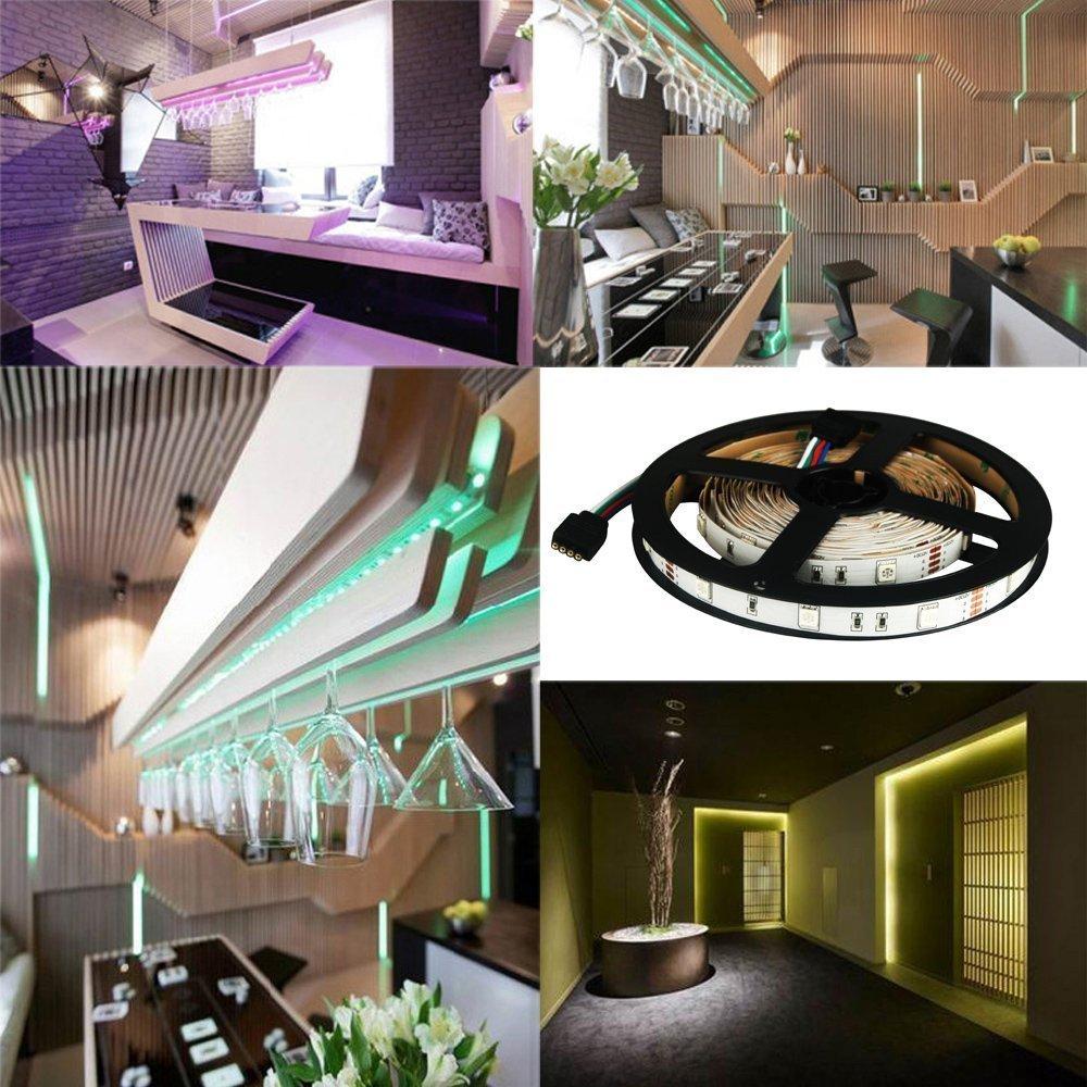 LED Streifen set, 5M 5050 RGB LED Strip lights,Led Band mit ...