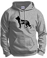 German Shepherd Love Dog Paw Prints Hoodie Sweatshirt