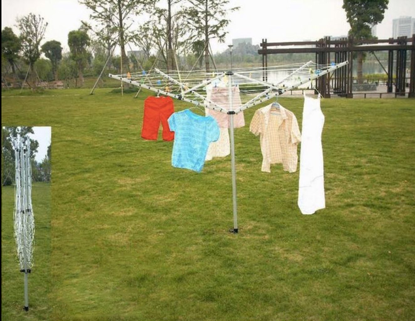 Clothes Airer Portable Rotary Washing Line 4 Arm Free Standing Multi Laundry UK Stock