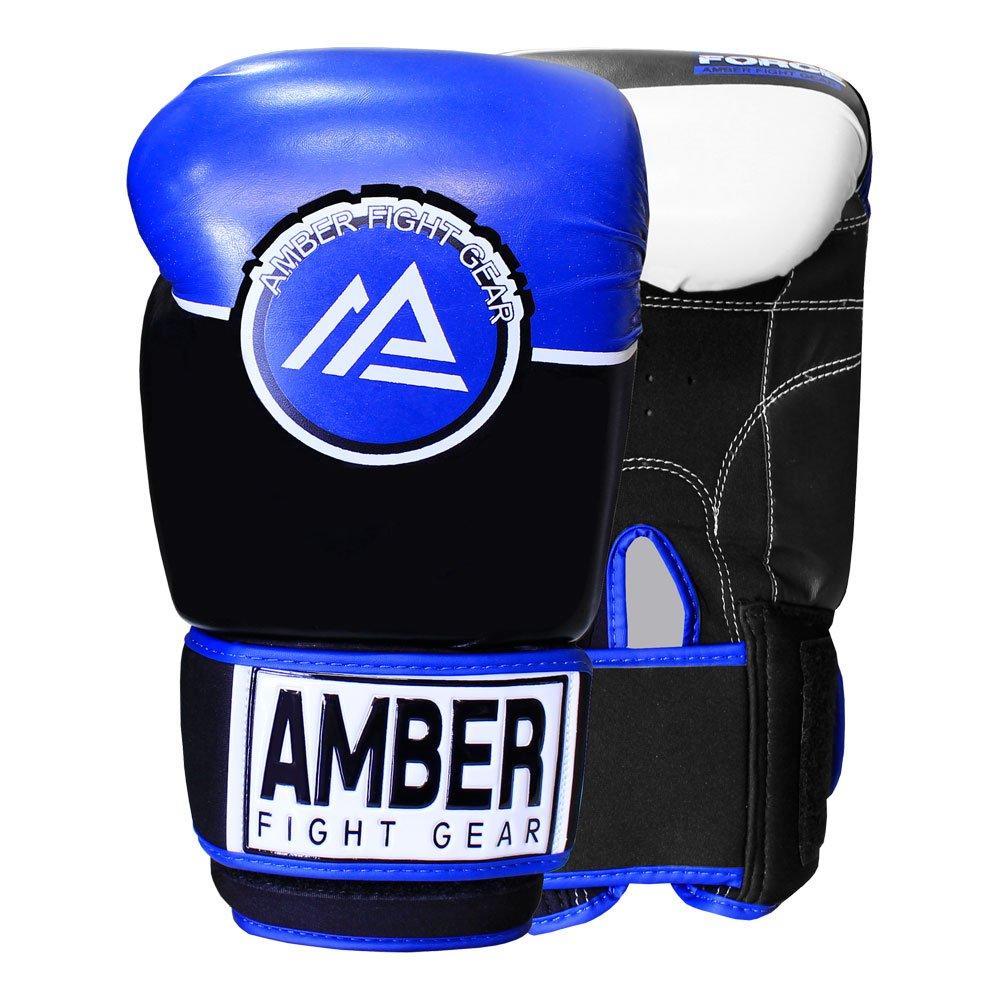 Amber Fight Gear Forceスパーリンググローブ16oz B075XR9FJ1 ネイビー/ブラック