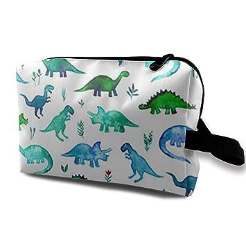Tela de dinosaurios Dinos diminutos en azul y verde Estuche ...
