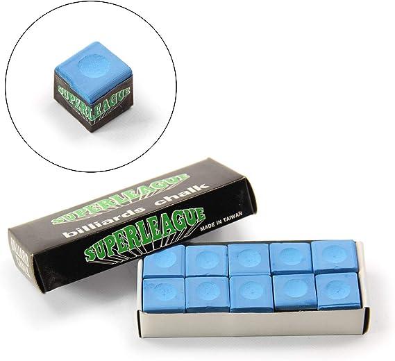Superleague - Tiza para Tacos de Billar (10 Unidades), Color Azul: Amazon.es: Deportes y aire libre