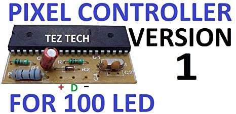TezTech LED Pixel Controller for 100 2811 and 1903 IC (Brown) on