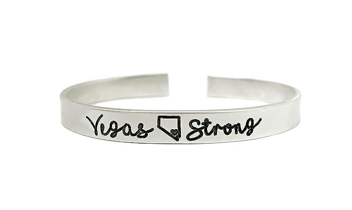 amazon com vegas strong cuff bracelet pray for vegas route 91