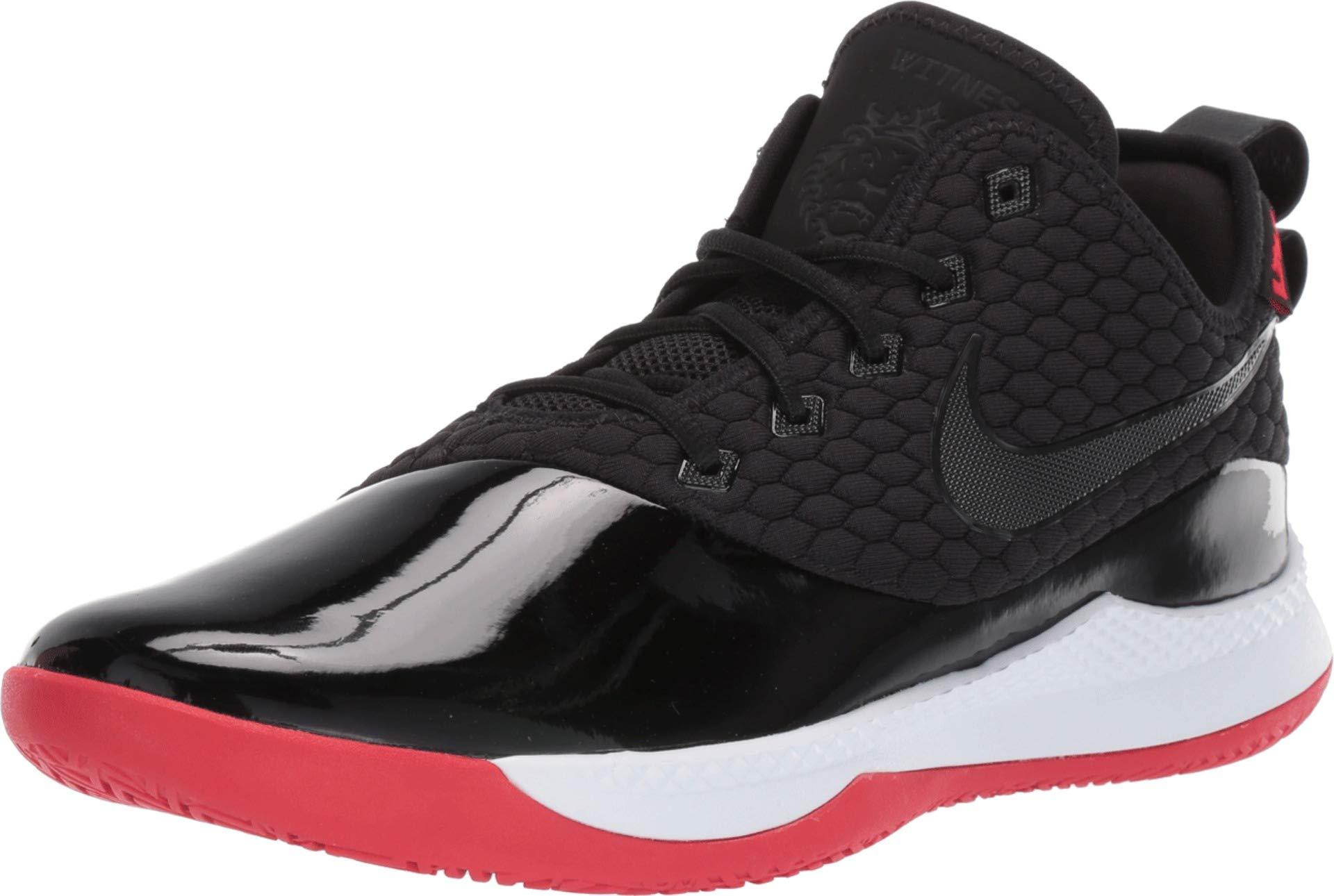 Nike Men's Lebron Witness III PRM Basketball Shoe Black/White/University Red Size 11 M US by Nike