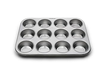 Fox Run Molde de acero inoxidable para 12 Estándar Muffin Utensilio de cocina Nuevo: Amazon.es: Hogar