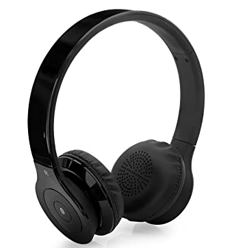 f15580b3435 Aduro AMPLIFY Bluetooth Wireless Stereo Headphones / Headset with Built-in  Mic (Retail Packaging) (Black): Amazon.co.uk: Electronics