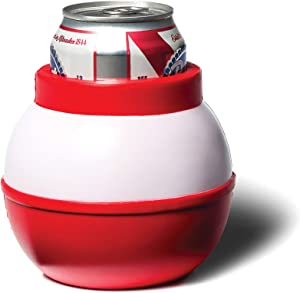 BigMouth Inc. Fishing Bobber Drink Kooler –Fits 12 oz Can, Red/White –Insulated Foam DrinkCoolerShaped Like a Fishing Bobber, Keeps Your Hands Warm and Your Drink Cold –Perfect for Fishing