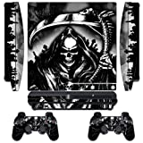 247Skins - Sticker de Protection pour Console PS3 SLIM Playstation 3 Sony + 2 Stickers pour Manette PS3 Sony - Reaper