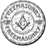 2 x 10cm フリーメーソン - ノートPCやタブレット用ビニールステッカー #4055