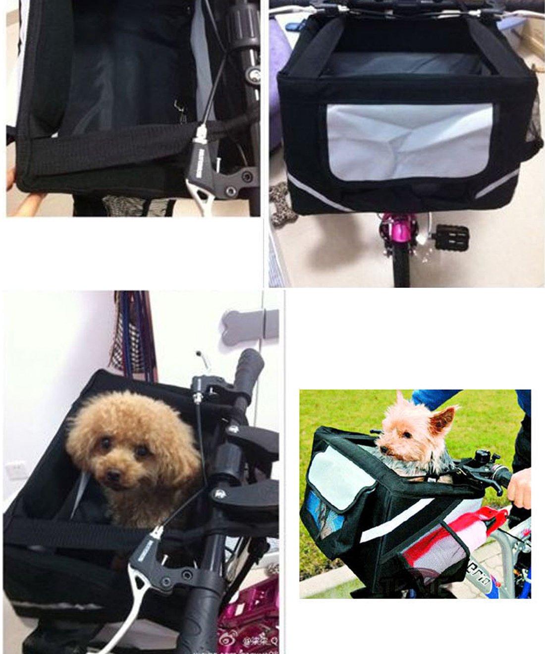 Multifunci/ón para Bicicleta Cesta De Pet Carrier para gato perro por Hi Suyi
