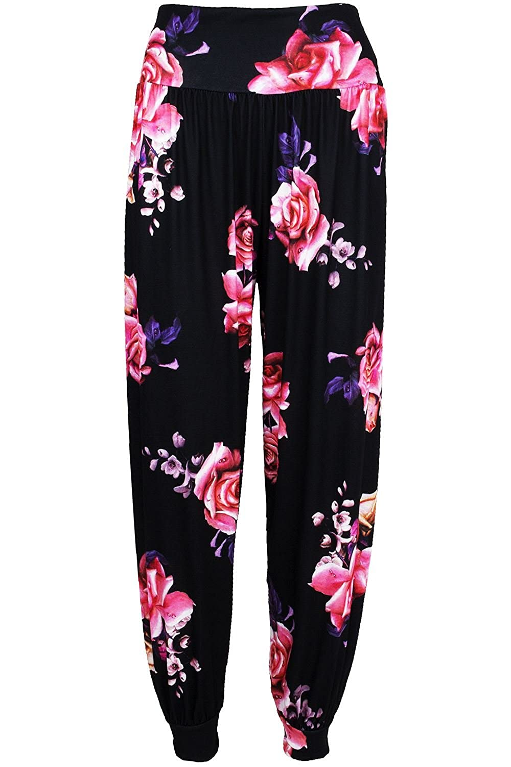 Be Jealous Womens Ladies Floral Ali Baba Bottoms Harem Pants Trouser Aladdin Hippy Leggings UK Plus Size 8-26