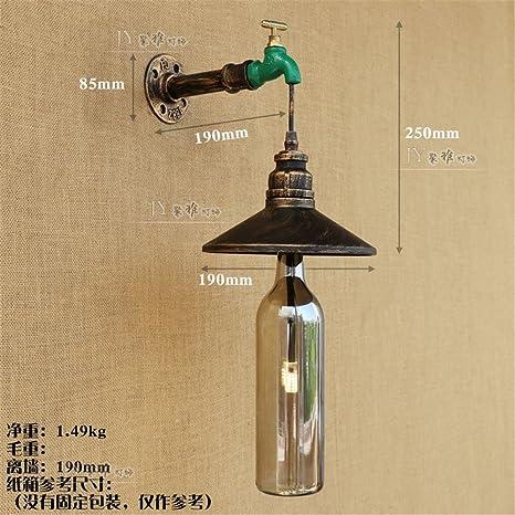 YU-K Antigüedades de estilo industrial de Edison lámpara de pared de hierro apliques de