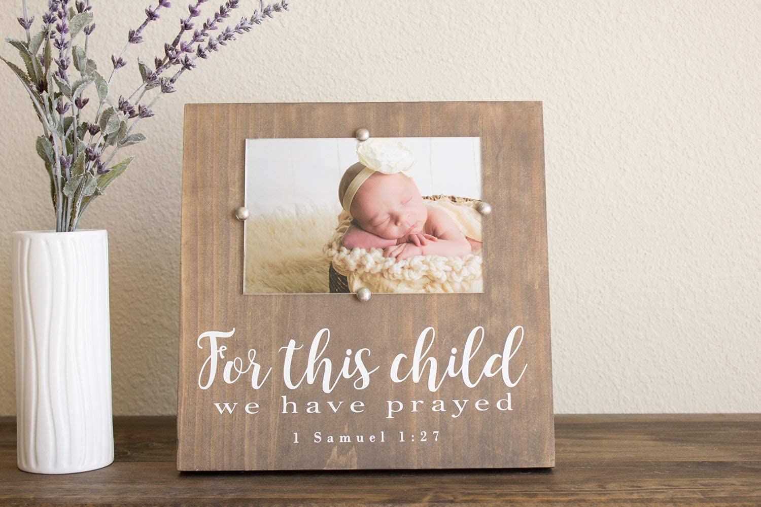EricauBird Sign, for This Child we Have Prayed Sign Baby Shower Picture Frame, Rustic Nursery Decor, Scripture Baby Frame, Wall Plaques Art, Rustic Signs with Sayings, w099