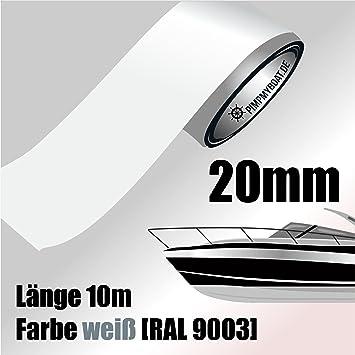 Zierstreifen 8 mm Boot 10 m f/ür Auto Modellbau und mehr SCHWARZ MATT
