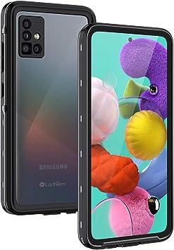 Lanhiem Funda Impermeable Samsung A51, Carcasa Sumergible Resistente Al Agua IP68 Certificado [Protección de 360 Grados], Carcasa para Samsung Galaxy A51 con Protector de Pantalla Incorporado: Amazon.es: Electrónica