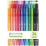 トンボ鉛筆 水性サインペン プレイカラーK 36色 GCF-013