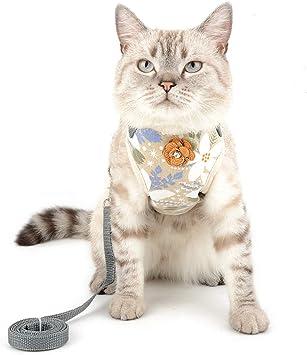 SELMAI Arneses para Gatos para Que no se Escapen Flores Impresas ...