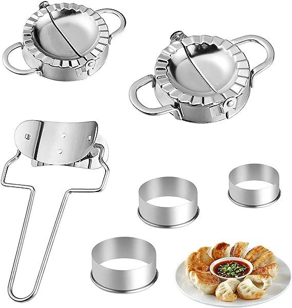 Dumpling Maker Ausstechformen Ravioli-Form Mehrfarbig, 3 St/ück 1//3 St/ück f/ür K/üchenutensilien Mingfa Teigtaschenform//Ravioli-Pressen manuelles Kn/ödeln