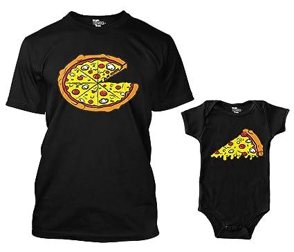 42a3c53e1 Amazon.com: Pizza Pie/Slice Matching Bodysuit & Men's T-Shirt: Clothing