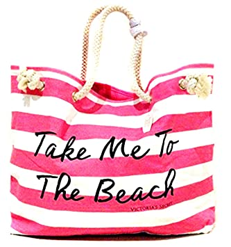 Amazon.com : VICTORIA's Secret PINK Beach Time Tote Bag . : Beauty