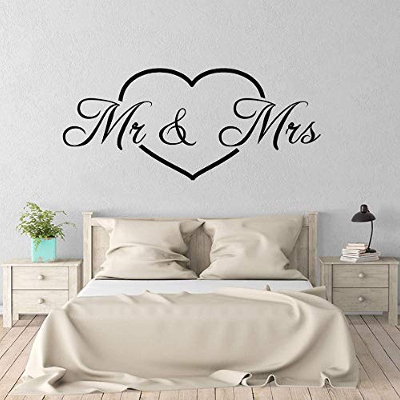 Amazon.com: Mr Mrs Lover Decor Art Heart Romantic Bedroom Living Room Home  Decoration Art Poster n Wall Decals Decor Vinyl Sticker IR3763: Home &  Kitchen