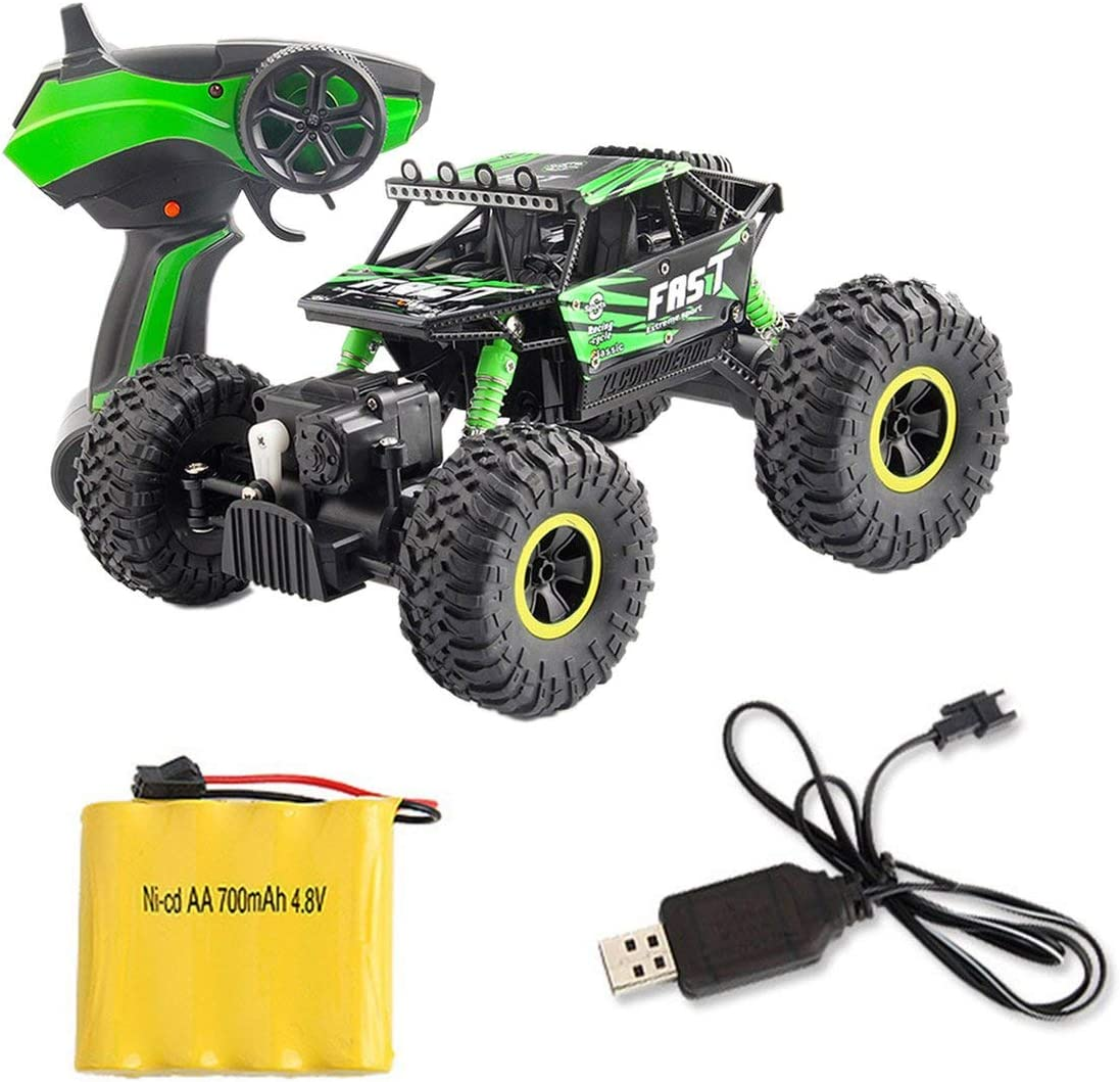 YT-06 RC Car 2.4G Toy Car Large 1:18 Vehicle Buggy High Speed Racing Car Remote Control Truck Four-Wheel Climber for Kids