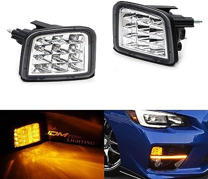 Amber LED Smoked Lens Front Turn Signal Lights fits 2017 2018 Subaru WRX /& STI