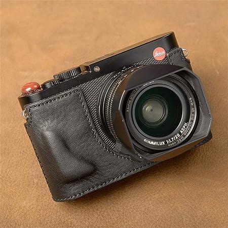 XJPB Estuche de Cuero para cámara, Bolso de cámara de Cuero Hecho a Mano Estuche de cámara Estuche de Cuero Funda Protectora Base de Mango Medio Juego para Leica Q/QP/Leica Q2,Negro,Q/QP: Amazon.es:
