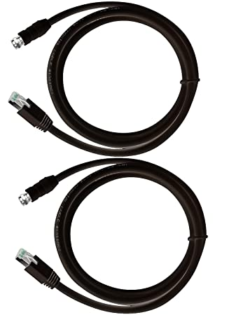 RG-6 cable coaxial a través de UTP CAT5E/6, adaptador convertidor extensor