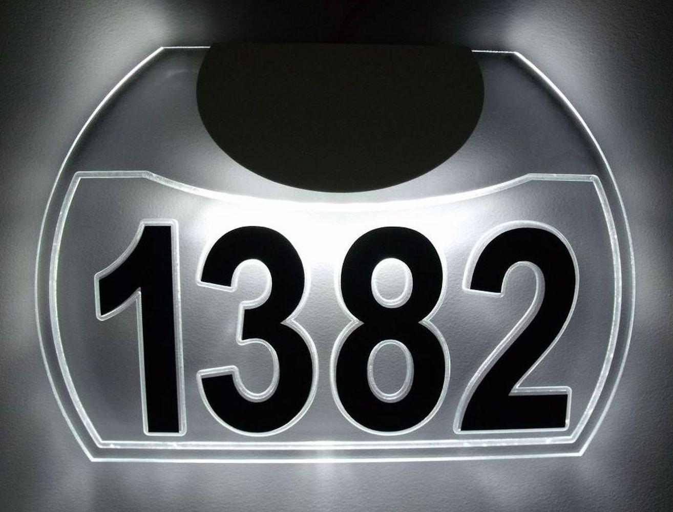 CUSTOM EDGE-LIT LED LIGHTED ACRYLIC ADDRESS SIGN ILLUMINATED HOUSE NUMBER LED LIGHTED ADDRESS PLAQUE