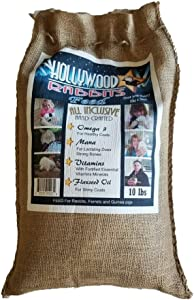 Hollywood Rabbits Feed - 10 Lb. Premium Feed   Hand Crafted High-Fiber   Probiotics for Digestive Health