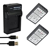 Newmowa Replacement BLS-1 Battery (2-Pack) and Portable Micro USB Charger kit for Olympus PS-BLS1, BLS-1 Batteries and Olympus PEN E-PL1, E-PM1, EP3, EPL3, Evolt E-420, E-620, E-450, E-400, E-410 Digital SLR Cameras