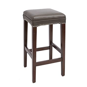 Tremendous Amazon Com Dover Upholstered Wooden Saddle Stool 29 Caraccident5 Cool Chair Designs And Ideas Caraccident5Info