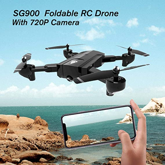 Funnyrunstore SG900 Quadcopter Plegable 720P Drone Quadcopter WiFi ...