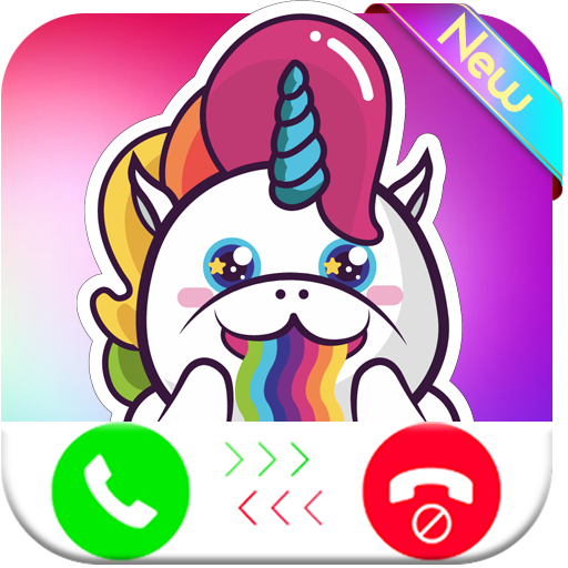 unicorn evolution calling you - fake phone call id - prank call for kids - 2018