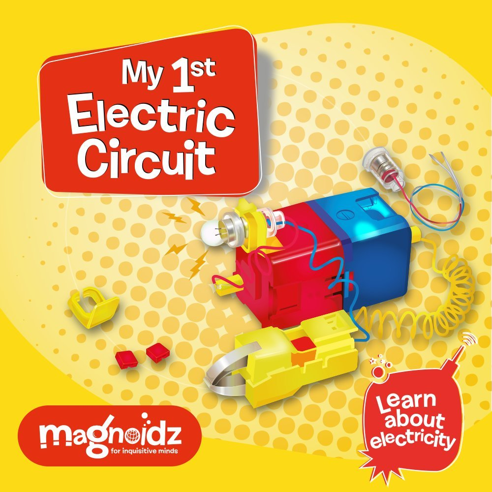 Magnoidz Labs My 1st Electric Circuit Science Kit For Kids Amazon Learning Electricity Electrical Circuits Toys Games